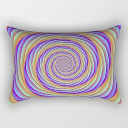 Coiled Cables in Orange Blue and Pink Rectangular Pillow