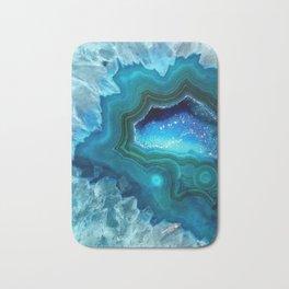 Teal Blue Agate II Bath Mat