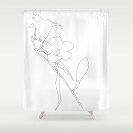 Carolina Jessamine (outline) Shower Curtain