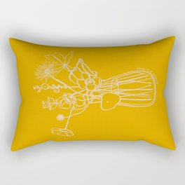 FLOWERS AND LEAVES IN YELLOW Rectangular Pillow