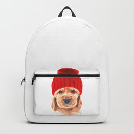 Cocker spaniel puppy with hat Backpack