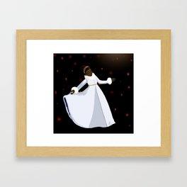 The Snow in the Moonlight Framed Art Print