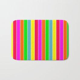 Neon Hawaiian Rainbow Deck Chair Stripes Bath Mat