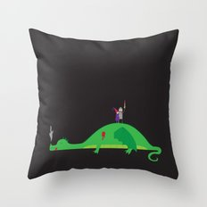 Knight in Shining Tin Foil Throw Pillow