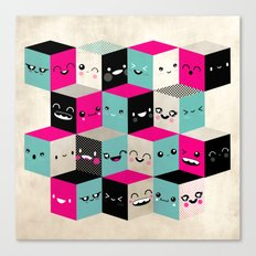 The Many Faces of Cute Canvas Print