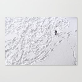 Lonely Snowman Canvas Print