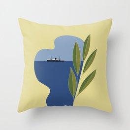 Mediterranean minimal Throw Pillow