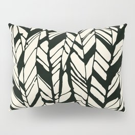 black and white feather texture Pillow Sham