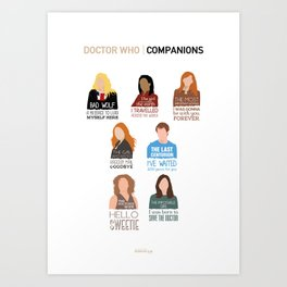 Doctor Who | Companions (alternate version) Art Print