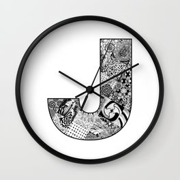 Cutout Letter J Wall Clock