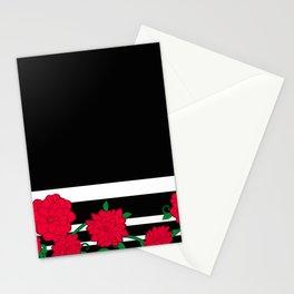 Floral Bloom - Red Flower Vines Stationery Cards