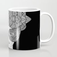 mask Mugs featuring Mask by Luna Portnoi