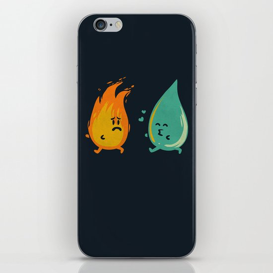 Impossible Love (fire and water kiss) iPhone Skin