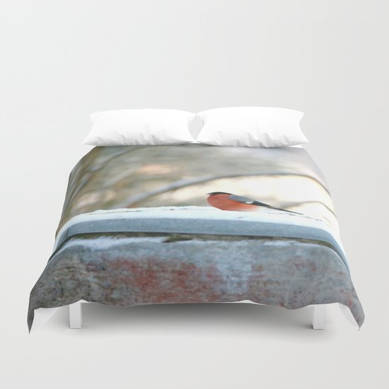 Red Plumage   Duvet Cover
