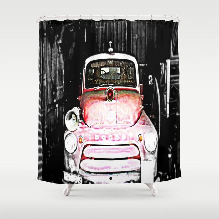 Dodge Fire Truck Shower Curtain