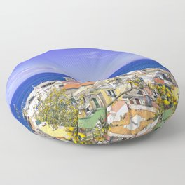 The Pearl Of The Mediterranean Sea Floor Pillow