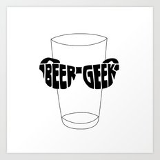 Beer Geek Art Print