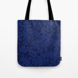 Blue on Blue - Broken but Flourishing Botanical Pattern Tote Bag