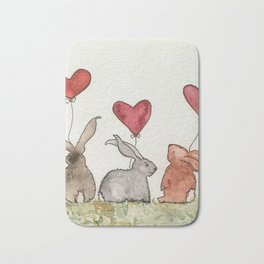 Honey Bunny Love Bath Mat