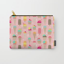 Ice Cream summer fresh food vacation heatwave city life pattern print geometric triangle design Carry-All Pouch