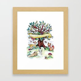 Woodlands Children's Room Poster Framed Art Print