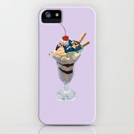lazy sundae lavender iPhone Case