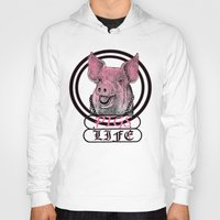 pigs Hoodies featuring Pigs Life by VirgoSpice