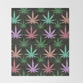 Marijuana Muted Colors Throw Blanket
