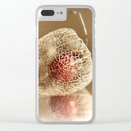 Physalis on gold Clear iPhone Case