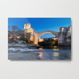 Mostar bridge at dawn, Bosnia & Herzegovina Metal Print
