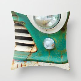 Rusty Turquoise Car Throw Pillow