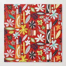 beachy red Canvas Print
