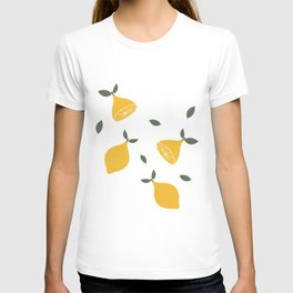 Retro Lemon Digital Print T-shirt