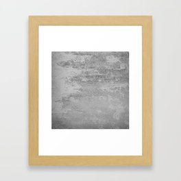 Simply Concrete Framed Art Print