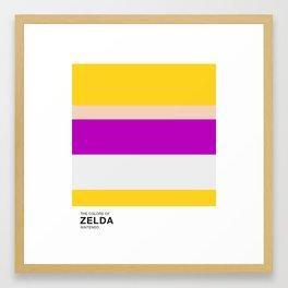 The Colors of Zelda Framed Art Print