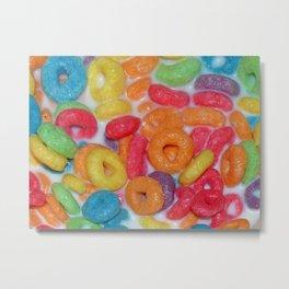 Fruity Cereal Metal Print