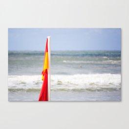 Australia Beach Swim Flag Canvas Print