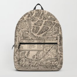 Vintage Map of Vicenza Italy (1588) Backpack