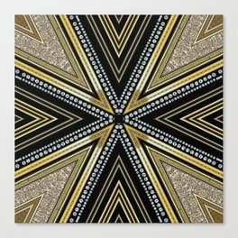 Glam Cross Star Canvas Print