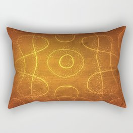 Chladni Pattern - Yellow by Spencer Gee Rectangular Pillow