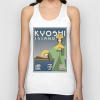 travel poster Tank Tops featuring Kyoshi Island Travel Poster by HenryConradTaylor