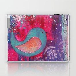 Whimsical Bird Mixed Media Laptop & iPad Skin