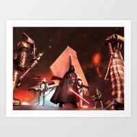 Art Print featuring Darth Vader - Return To Mustafar by jcalum2012