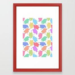 Mew-Boo Framed Art Print