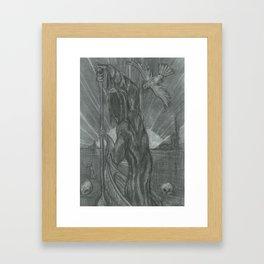 The Death Card Framed Art Print