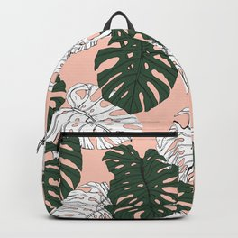 Hand drawing monstera pastel color Backpack