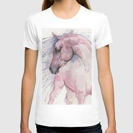 arabian horse watercolor art T-shirt