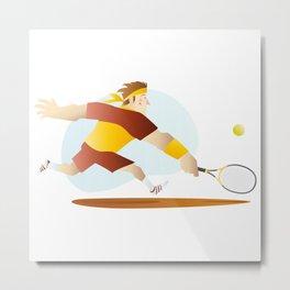 Tenis Metal Print