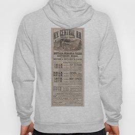 1863 New York Central Railroad Niagara Falls Broadside Advertisement Poster Hoody
