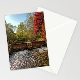 Fall Foliage Along River Stationery Cards